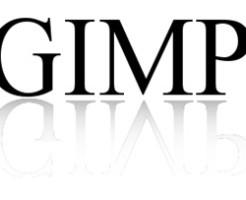 GIMPで反射しているロゴを作ろう