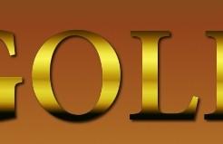 金色光沢のあるゴージャスなロゴの作り方